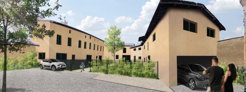 vue 3D ferme Parcieux après rénovation