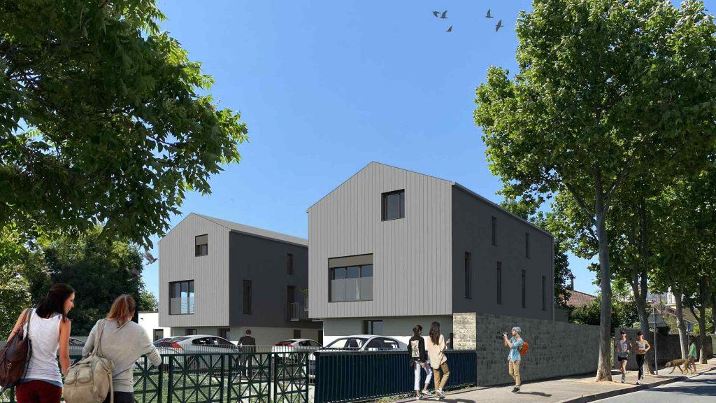 Immeubles Villefranche sur Saône ossature bois promoteur immobilier